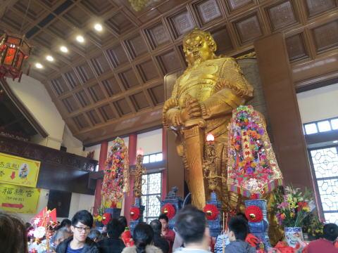 旧正月イベント 車公廟で春節の初詣