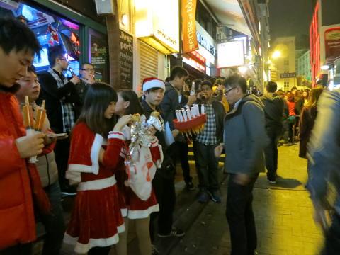 蘭桂坊(ランカイフォン)のクリスマス カウントダウン
