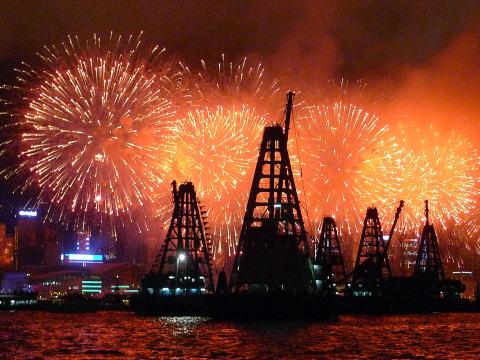 香港特区成立記念日(7/1)の花火大会に行ってきたよ