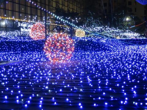 沙田 ニュータウンプラザのクリスマスイルミネーション