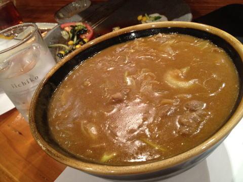 日本料理 自然やのカレーうどん