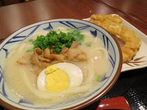 尖沙咀 丸亀製麺 香港店でとんこつうどんを食べる