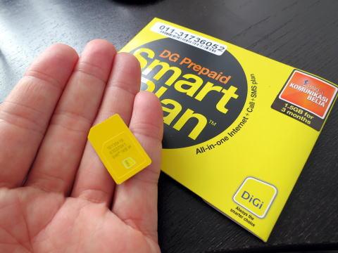 マレーシアのペナン島でプリペイドSIMカードを買う