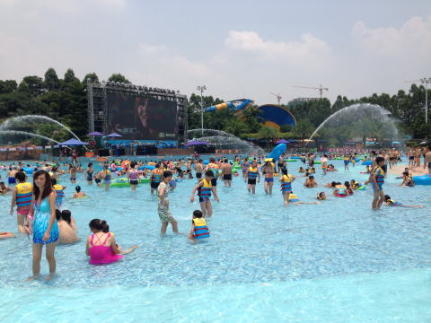 広州の巨大なプール 長隆水上楽園